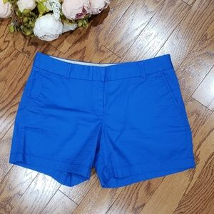 "J. Crew 5"" Chino Broken-In Blue Shorts"